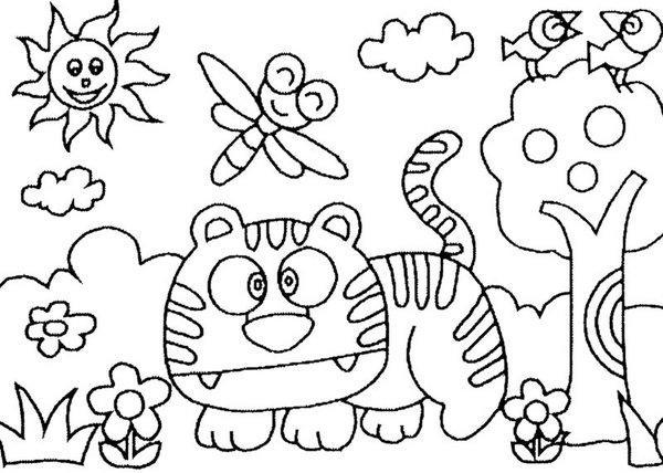 Desenho de colorir diferenciado (Foto: divulgação)