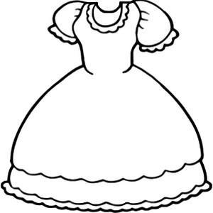 Desenho de colorir vestido (Foto: divulgação)