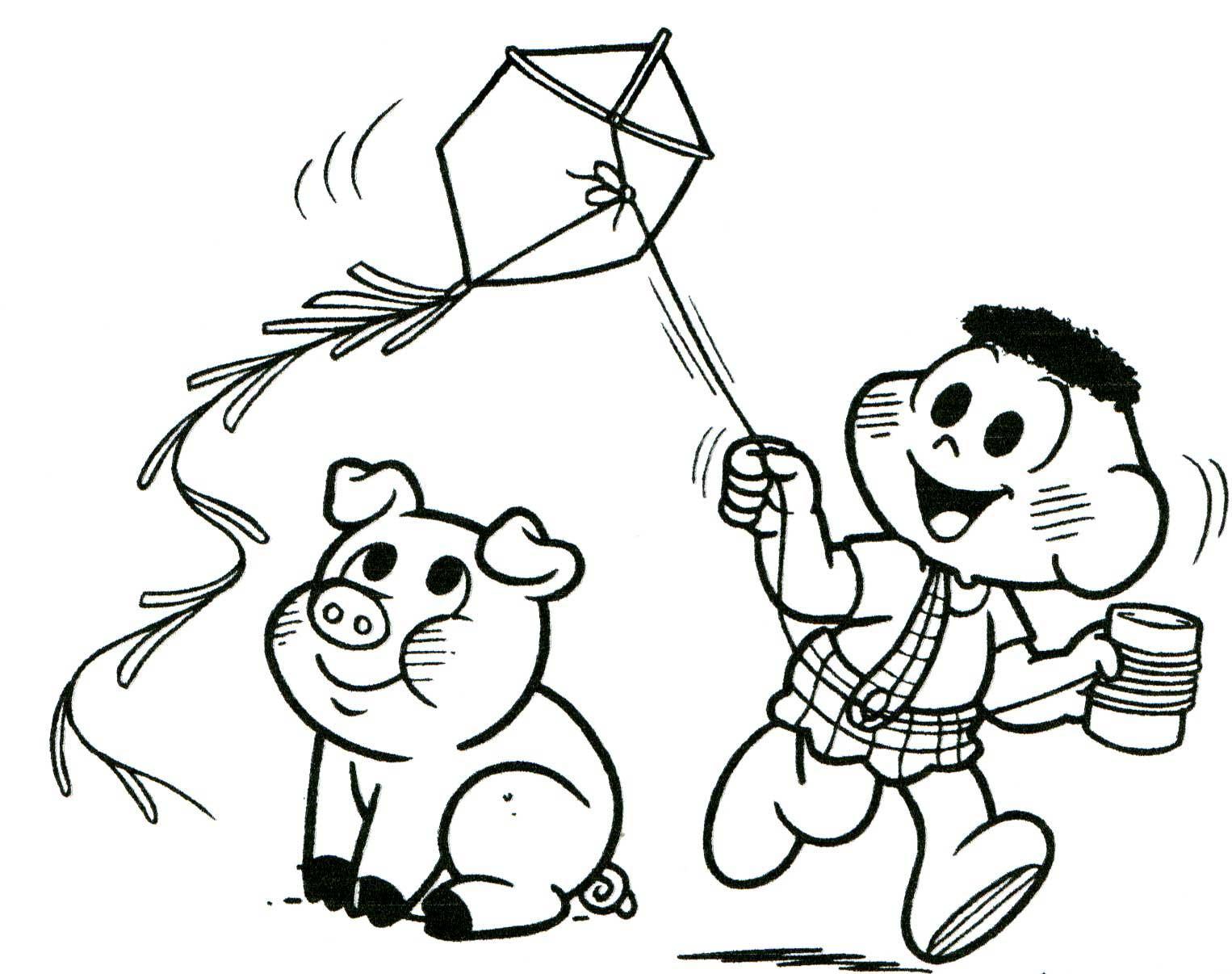 Personagens em desenho para colorir (Foto: Divulgação)