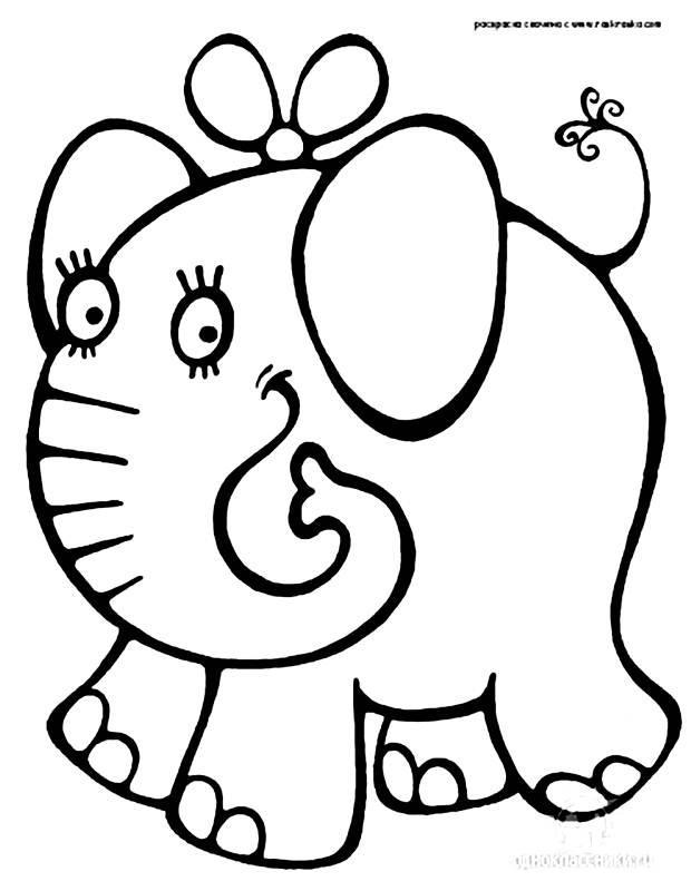 Elefantinho para colorir (Foto: Divulgação)