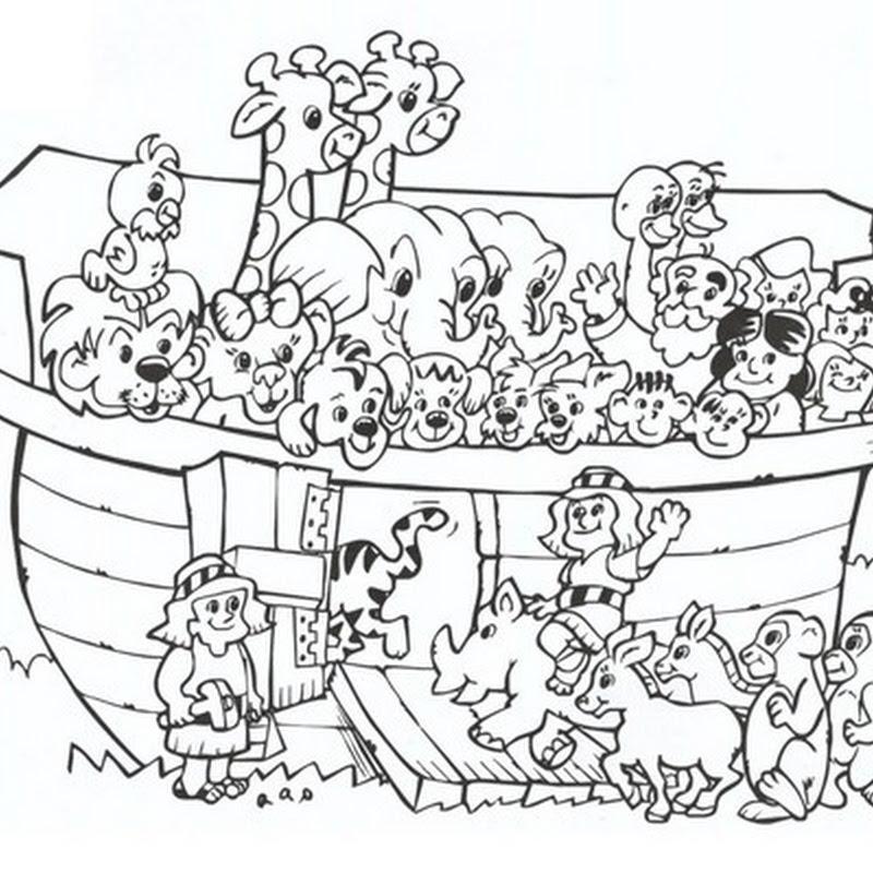 Desenho com muitos personagens para colorir (Foto: Divulgação)