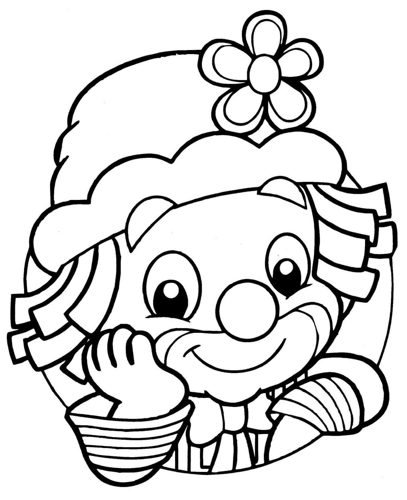Desenho de palhaço para colorir (Foto: Divulgação)