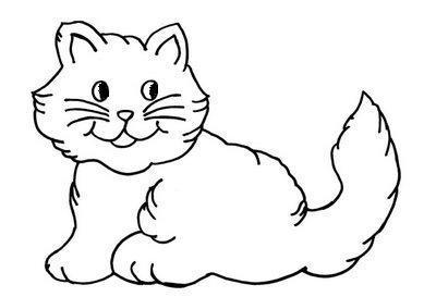 Desenho de gatinho para colorir (Foto: Divulgação)