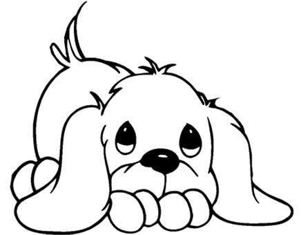 Desenho de cão para colorir (Foto: Divulgação)