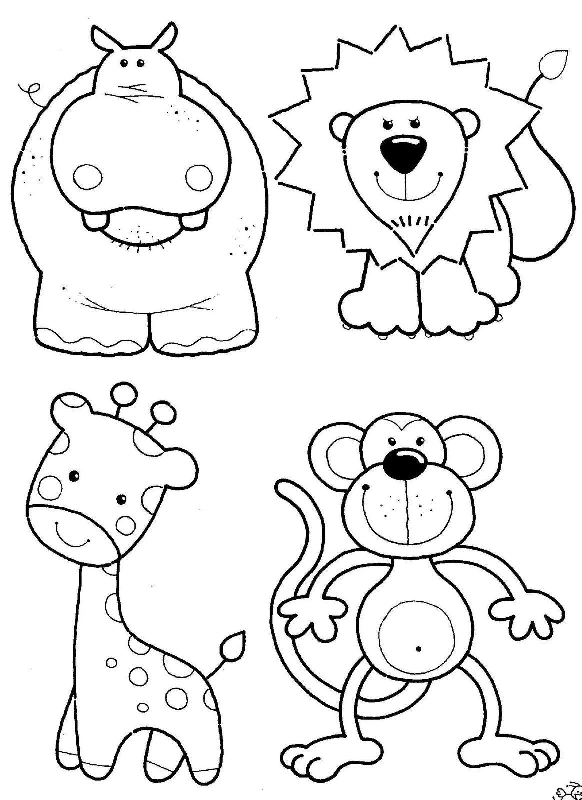 Imagem com vários animais fofos para colorir (Foto: Divulgação)
