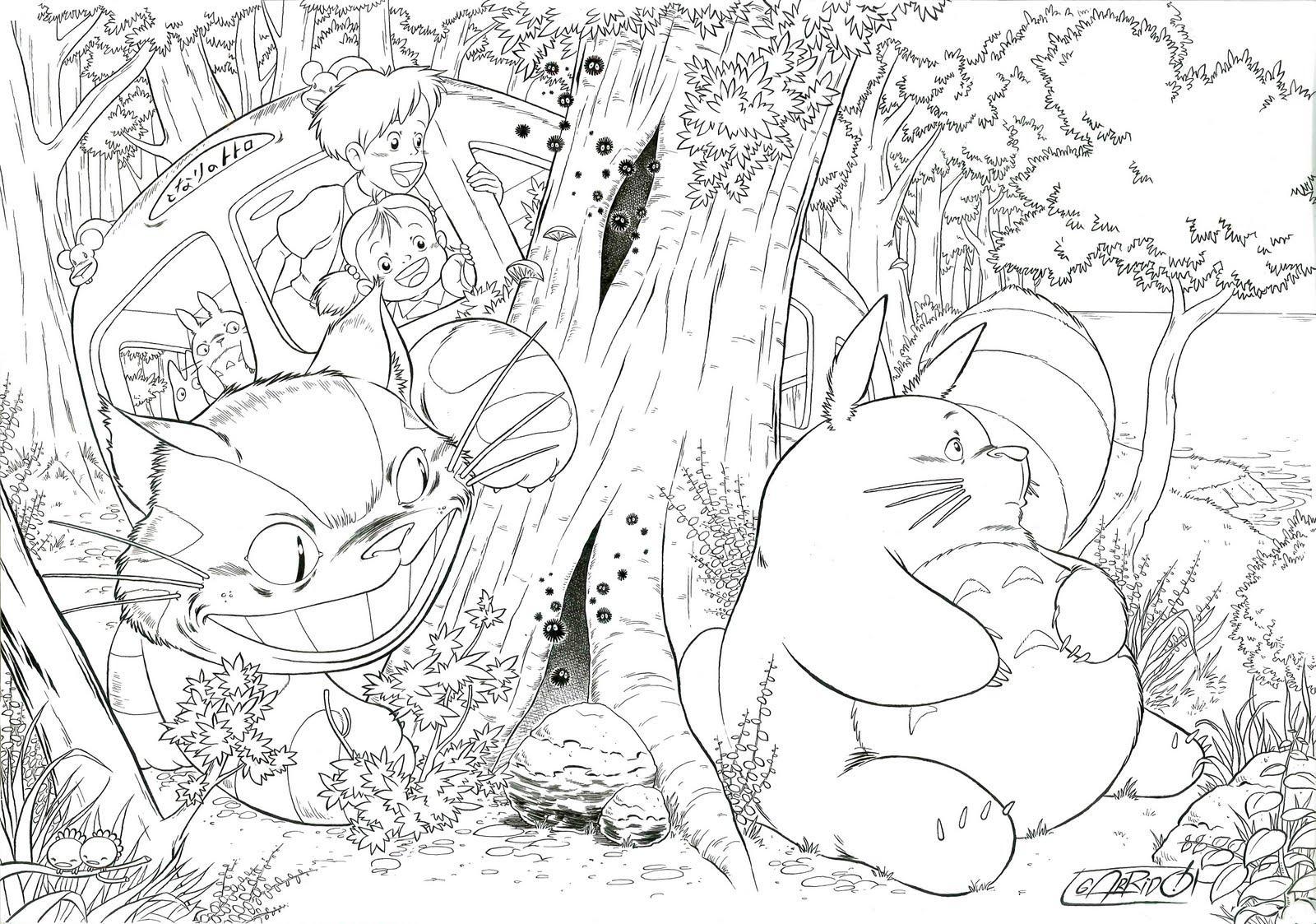Desenho cheio de detalhes para colorir (Foto: Divulgação)