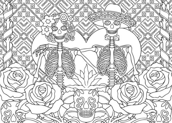 Desenho para adulto pintar (Foto: Reprodução/Pintar Desenhos De Colorir)