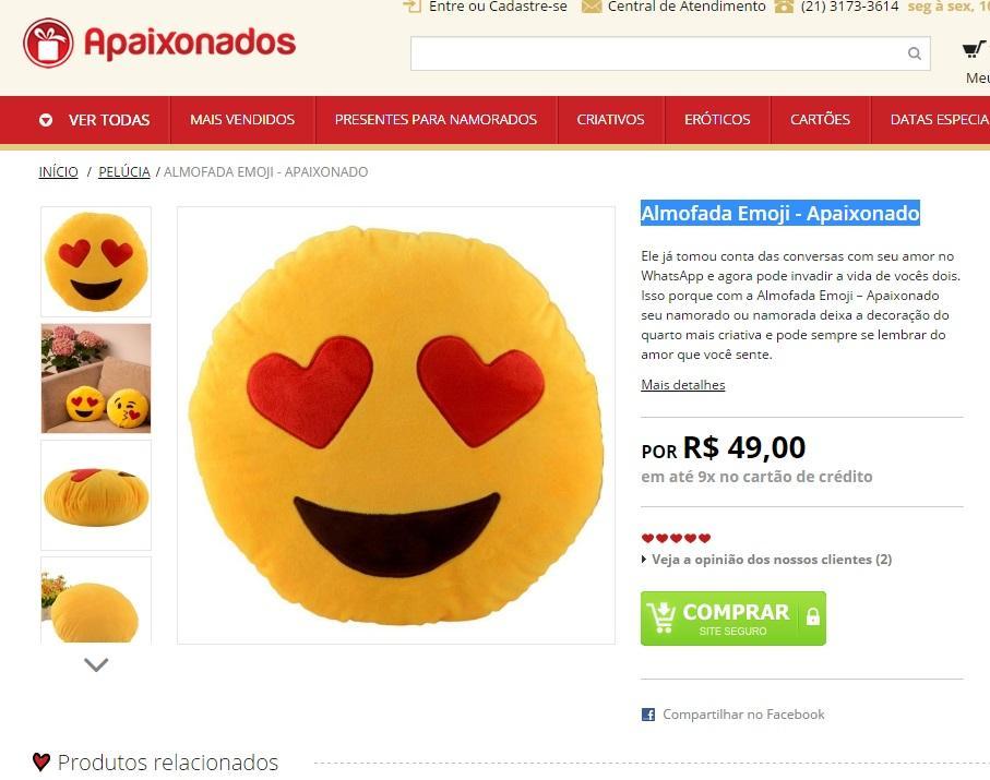 Almofada emoji Whatsapp (Foto: Reprodução/Loja Apaixonado)