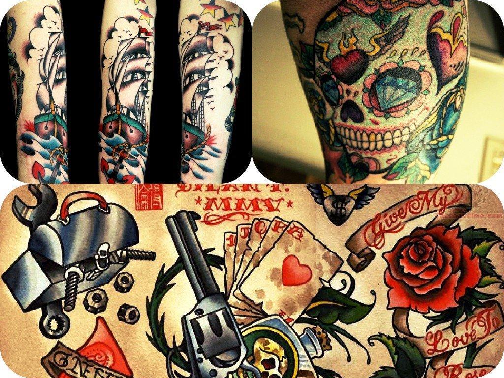 Tatuagens coloridas e diferenciadas (Foto: Ilustração)