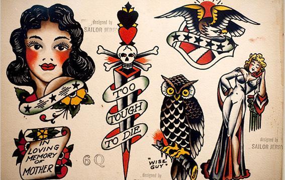 Esses desenhos de tatuagens tem características marcantes (Foto: Divulgação)