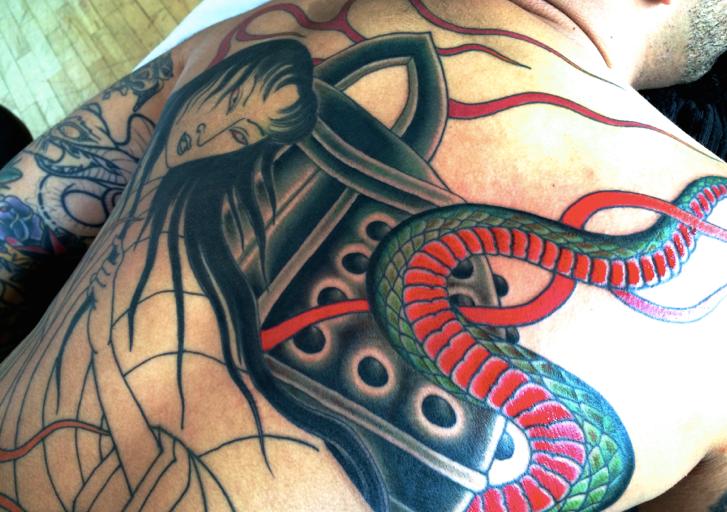 Essas tatuagens podem ser bem coloridas (Foto: Divulgação)