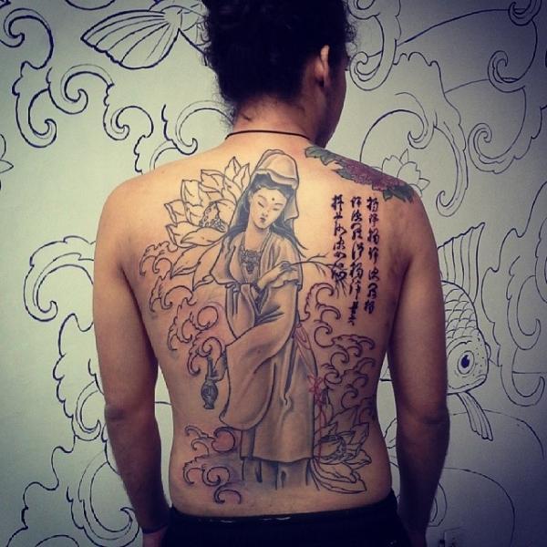 Tatuagem oriental diferente (Foto: Divulgação)