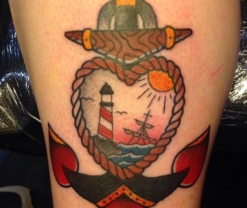 Tatuagem mais colorida e bastante comum (Foto: Divulgação)
