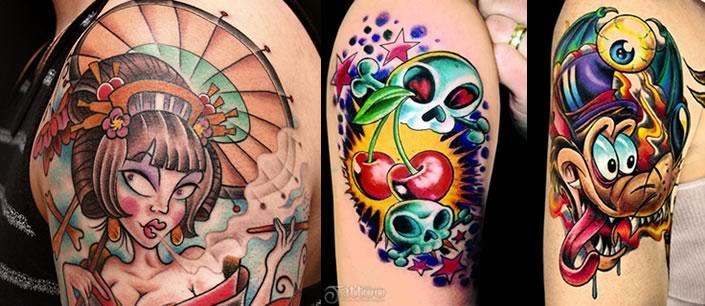 Tatuagens diferenciadas e coloridas (Foto: Divulgação)