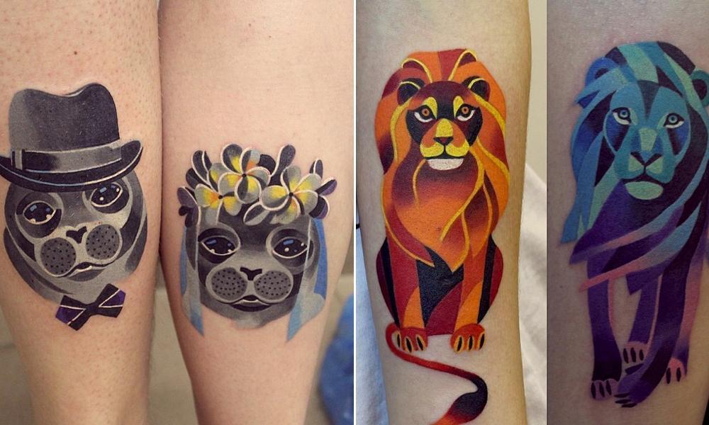 As tatuagens geométricas são lindas (Foto: Divulgação)