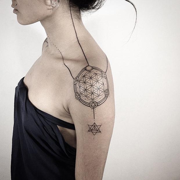 Traços lindos e diferenciados para as suas tatuagens geométricas (Foto: Divulgação)