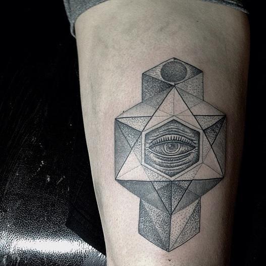 Conheça mais tatuagens com formas geométricas (Foto: Ilustração)