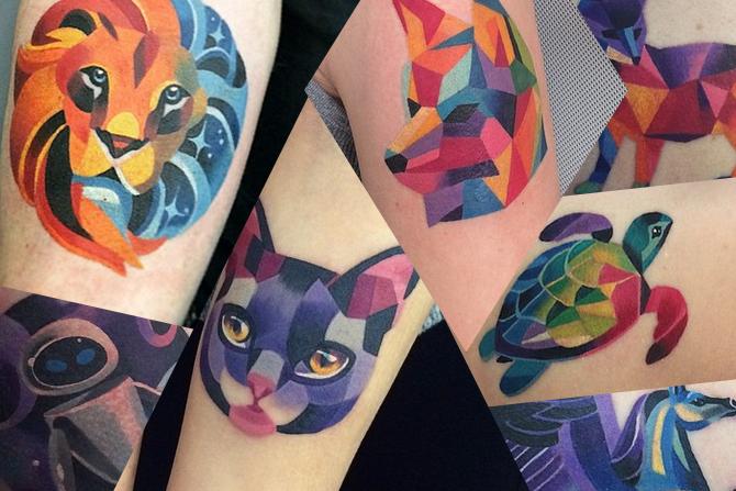 Algumas tatuagens com formas geométricas e lindas (Foto: Ilustração)