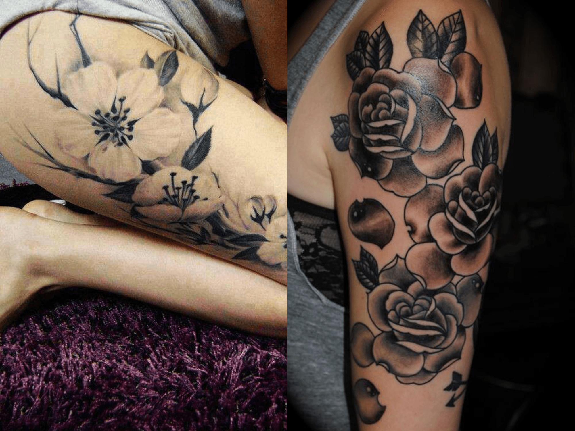 Tatuagens femininas cinza (Foto: Divulgação)
