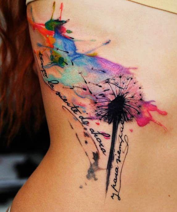 Desenho lindo com tatuagem em aquarela (Foto: Divulgação)