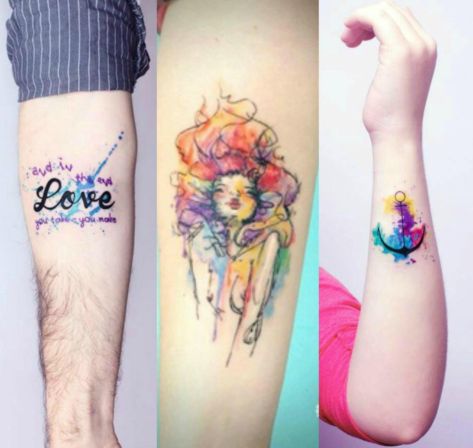 Veja mais modelos de tatuagens em aquarela (Foto: Divulgação)