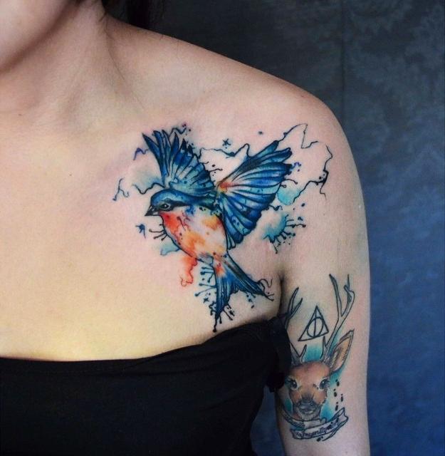 Modelos de tatuagens em aquarela lindas (Foto: Divulgação)