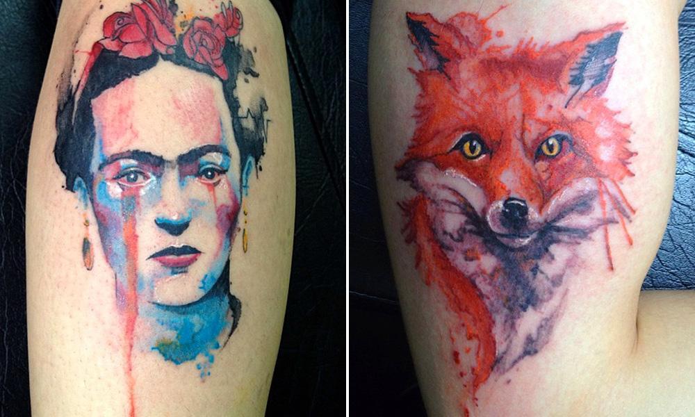 Modelos de tatuagem aquarela (Foto: Divulgação)