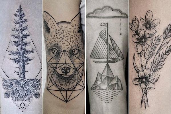 Tatuagens pontilhadas com vários aspectos (Foto: Divulgação)