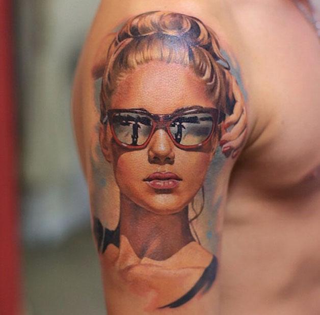 Essa tatuagem real fica no braço (Foto: Divulgação)