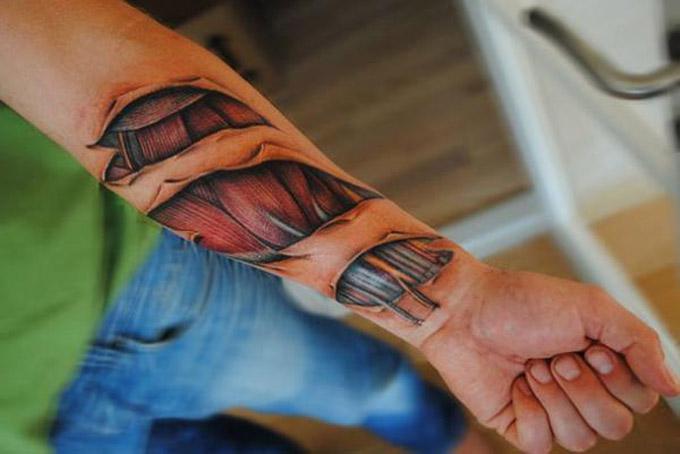 Algumas tatuagens reais não retratam exatamente um objeto (Foto: Divulgação)