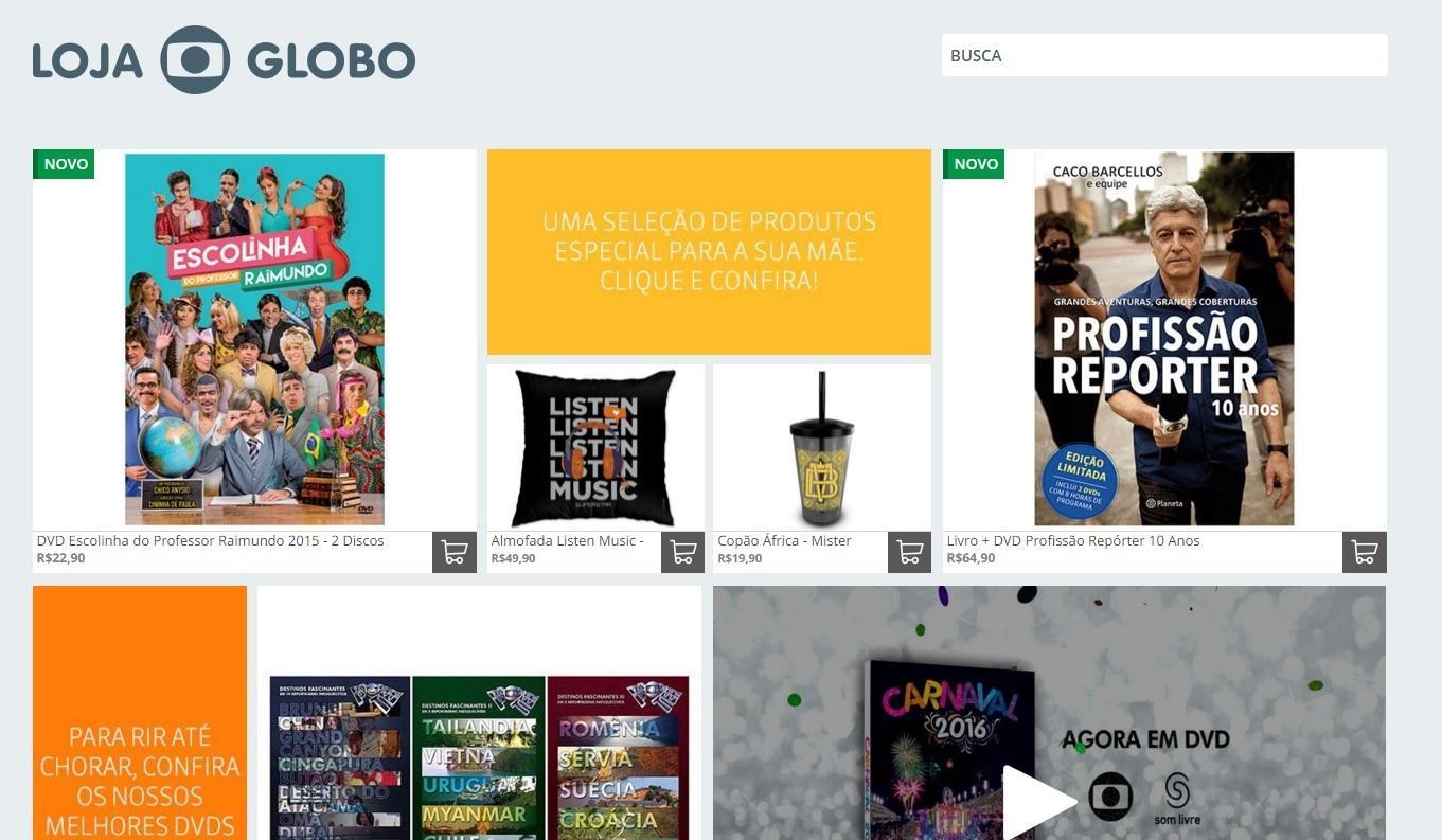 Dia das Mães na Loja da Globo (Foto: Reprodução/ Loja Globo)