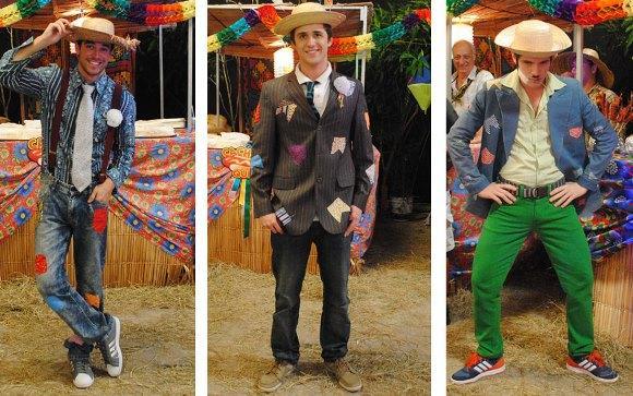 Chapéu de palha e roupas com remendo. (Foto: Reprodução/Gshow)