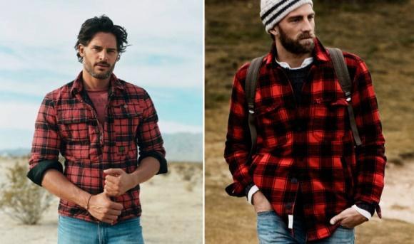 A combinação camisa xadrez e calça jeans sempre funciona. (Foto: Reprodução/UOL)