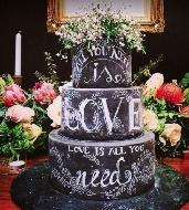 Lousas na decoração de casamento