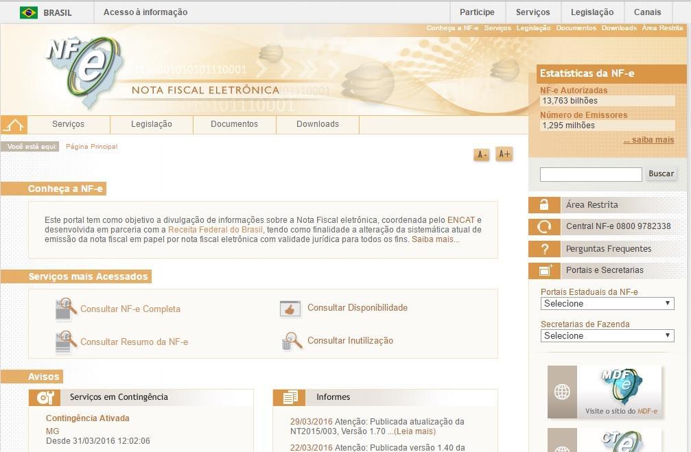 NF-e SP Consulta, Cadastrar Nota Fiscal Eletrônica SEFAZ SP (Foto: Reprodução/Nota Fiscal Eletrônica)