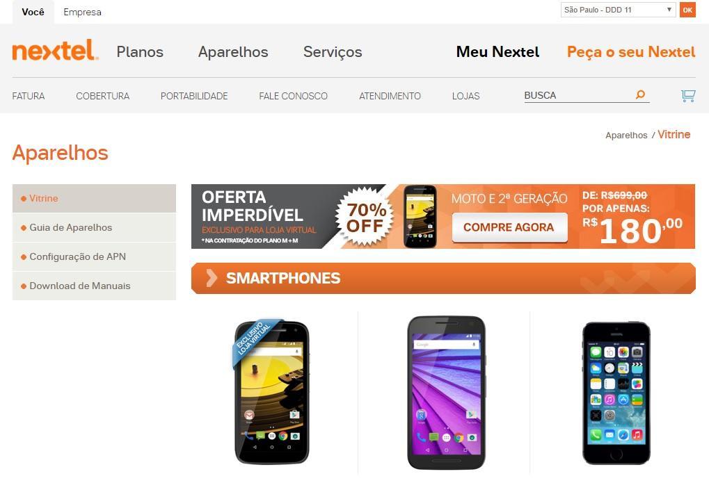 Aparelhos novos da Nextel (Foto: Reprodução/Site Nextel)(Foto: Reprodução/Site Nextel)