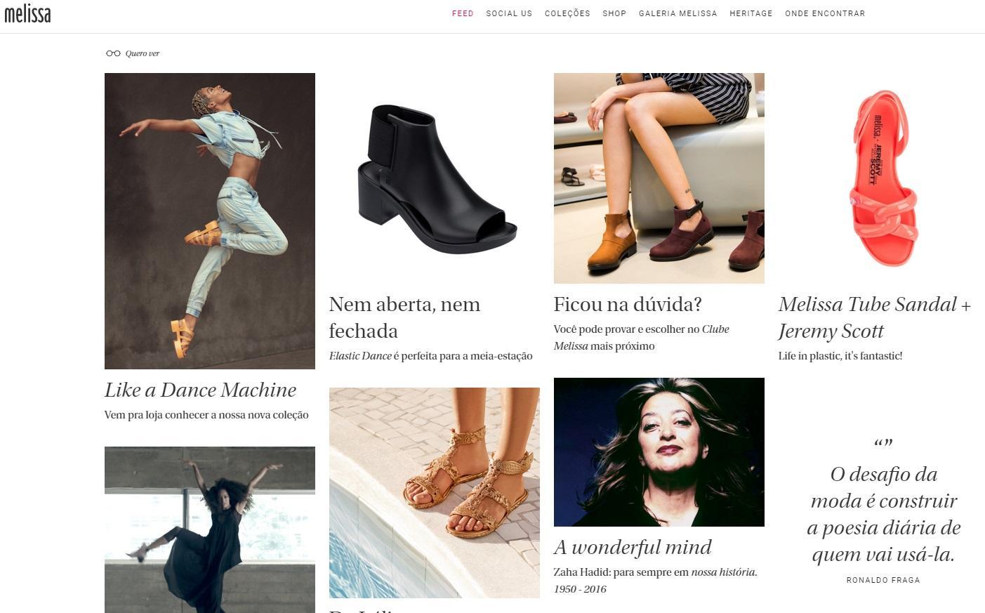 Melissa lança novos produtos, cada vez mais bonitos e confortáveis (Foto: Reprodução/Site Melissa)