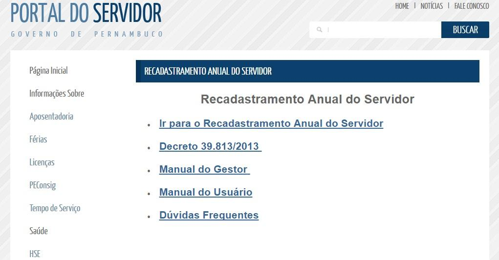 Confira outras opções de serviços no portal do Servidor (Foto: Reprodução/Portal do Servidor)