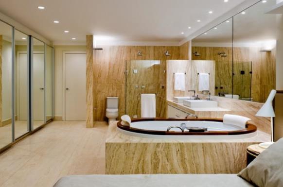 Sala de banho integrada.. (Foto: Reprodução/Anualdesign)