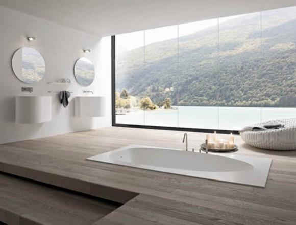Uma sofisticada sala de banho. (Foto: Reprodução/Housely)