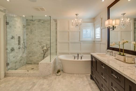 A sala de banho é muito mais do que um banheiro. (Foto: Reprodução/Houzz)