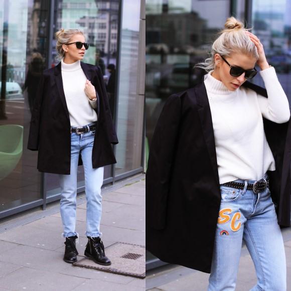 Look feminino com blazer. (Foto: Reprodução/Lookbook.nu)