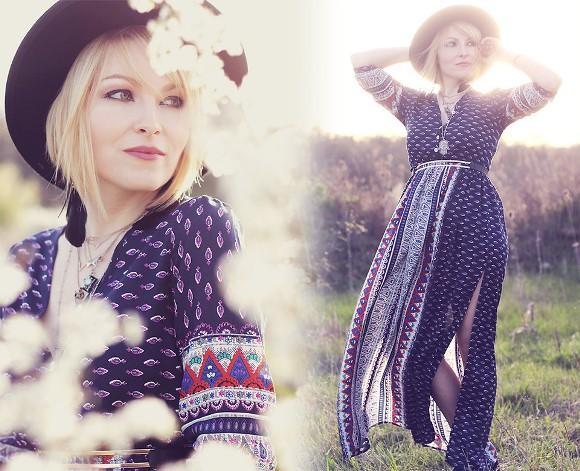 O Maxi Dress aparece entre as tendências da moda. (Foto: Reprodução/Lookbook.nu)