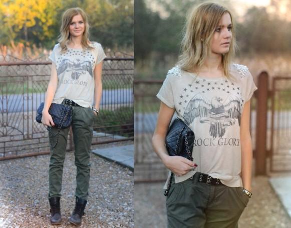 Calça verde militar. (Foto: Reprodução/Lookbook.nu)