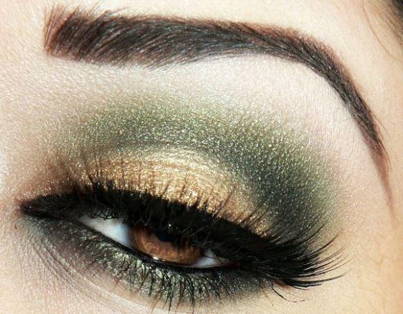 Maquiagem verde militar. (Foto: Reprodução/Make-Up-Beauty)