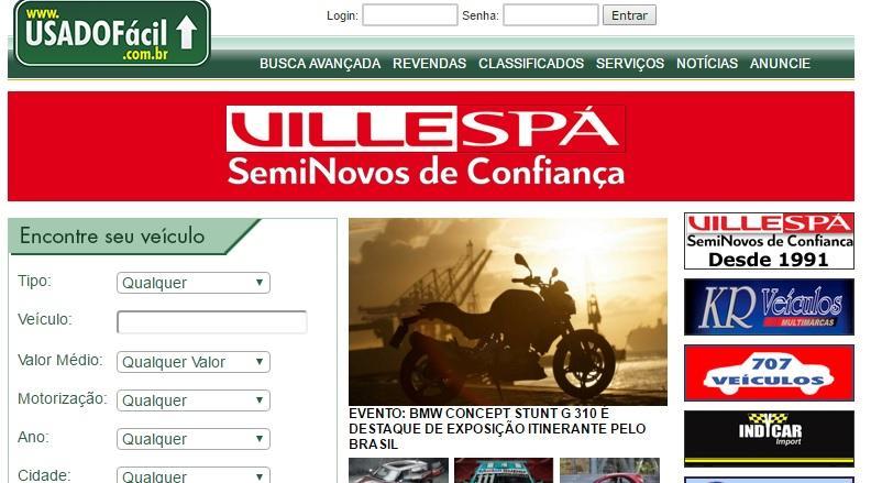 Conheça o site Usado Fácil (Foto: Reprodução/Usado Fácil)