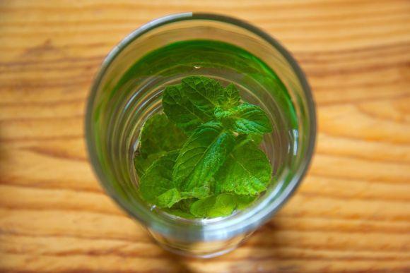 A água com hortelã é muito saborosa e benéfica (Foto Ilustrativa)