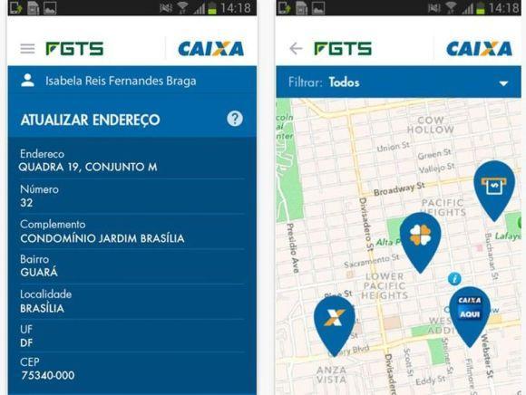 O novo app Caixa FGTS tem várias funcionalidades (Foto: Divulgação Caixa Econômica Federal)