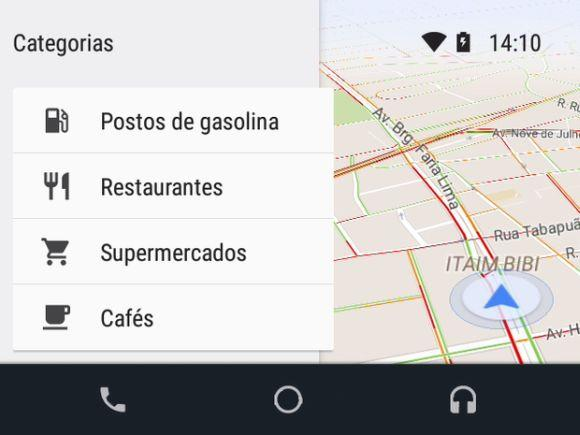 São vários os recursos oferecidos pelo Android Auto Brasil (Foto: Divulgação Google)