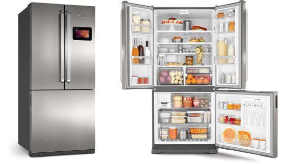 A geladeira inteligente da Brastemp é indispensável para quem vive conectado (Foto: Divulgação Brastemp)